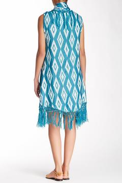 Raj Lotus Aztec Fringe Wrap - Alternate List Image
