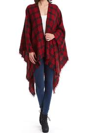 Raj Lotus Plaid Ruana-Red - Product Mini Image
