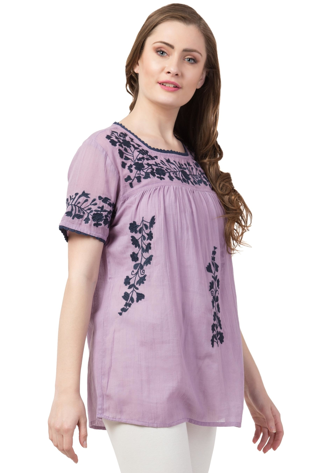 Raj Lotus Raj Bohemain Tunic - Back Cropped Image