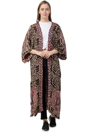 Raj Lotus Raj Carla Thickstitch Embroidered Duster - Front cropped