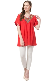 Raj Lotus Raj Embroidered Tunic - Product Mini Image