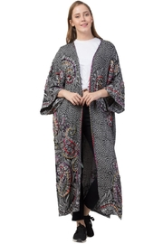 Raj Lotus Raj Milliethickstitch Embroidered Duster - Product Mini Image