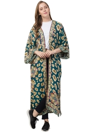 1920s Coats, Furs, Jackets and Capes History Raj Paityn Thickstitch Embroidered Duster $98.00 AT vintagedancer.com