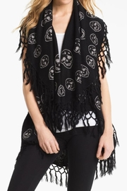 Raj Lotus Raj Poncho-Black Skull - Product Mini Image