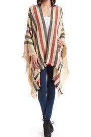 Raj Lotus Toni Striped Ruana Beige - Product Mini Image