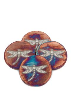 Shoptiques Product: Raku Dragonfly Coasters