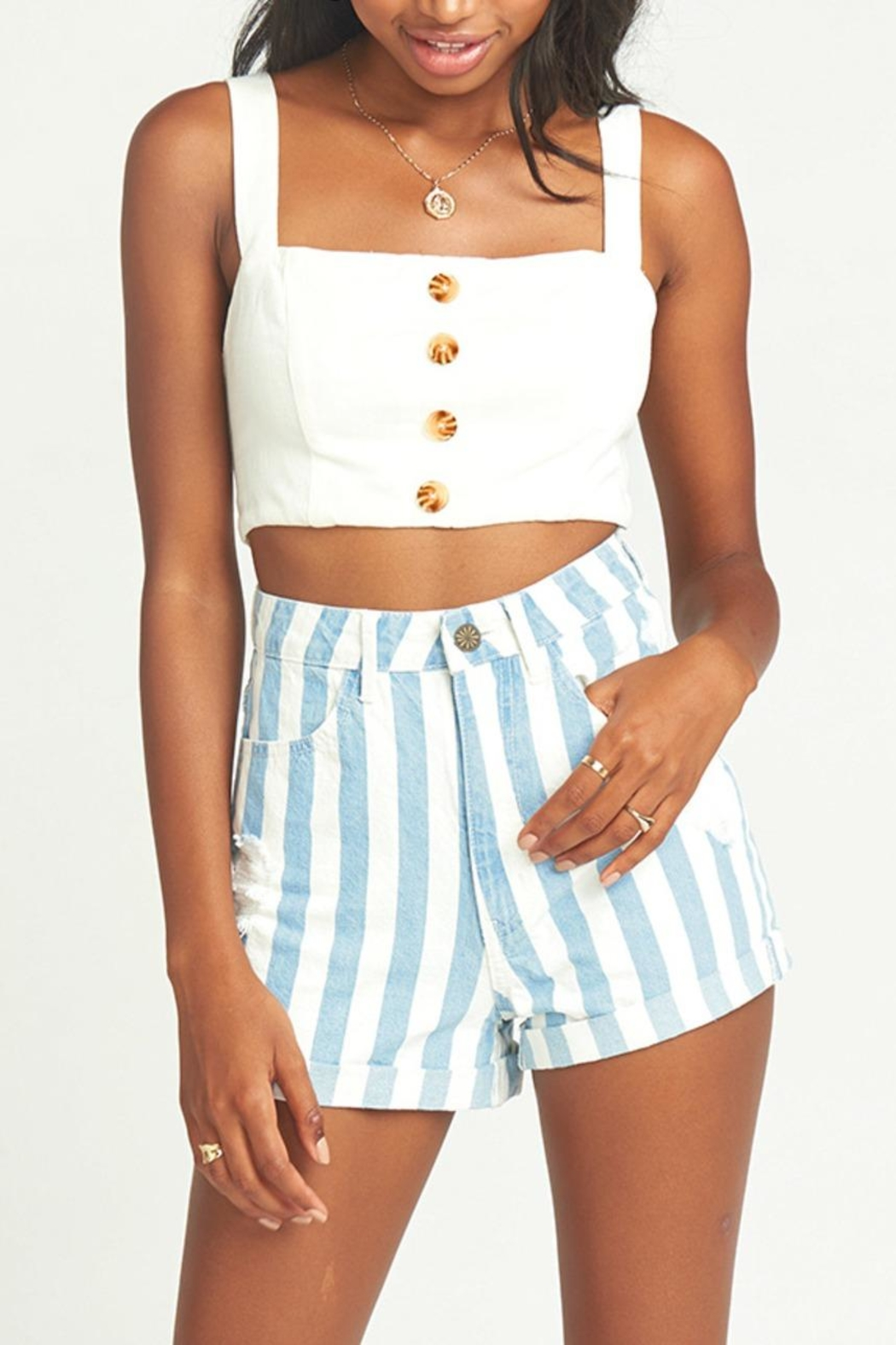 Show Me Your Mumu Raleigh Roll-Up Shorts - Front Full Image