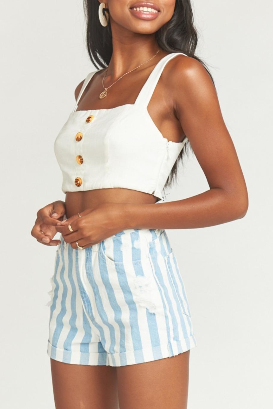 Show Me Your Mumu Raleigh Roll-Up Shorts - Side Cropped Image