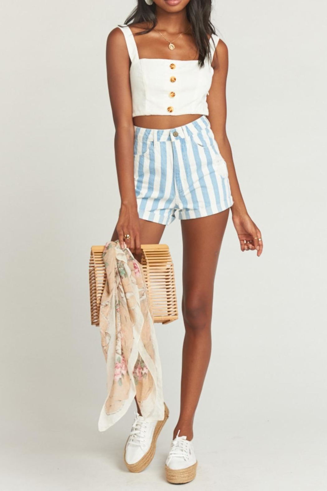 Show Me Your Mumu Raleigh Roll-Up Shorts - Main Image