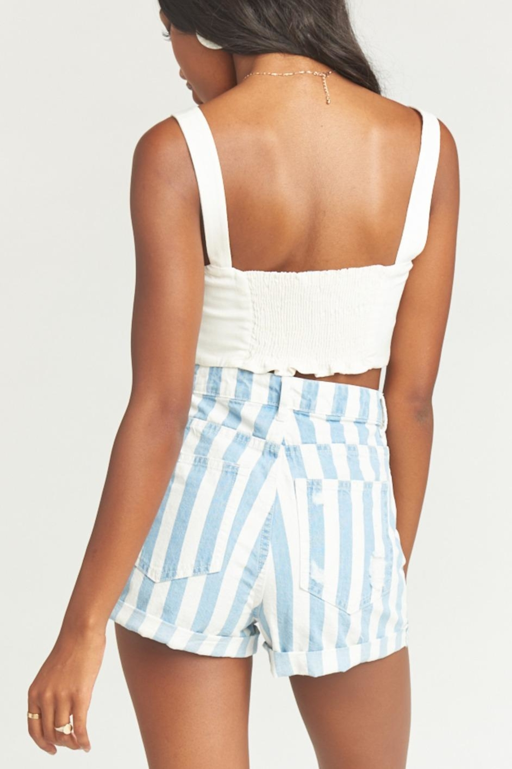 Show Me Your Mumu Raleigh Roll-Up Shorts - Back Cropped Image