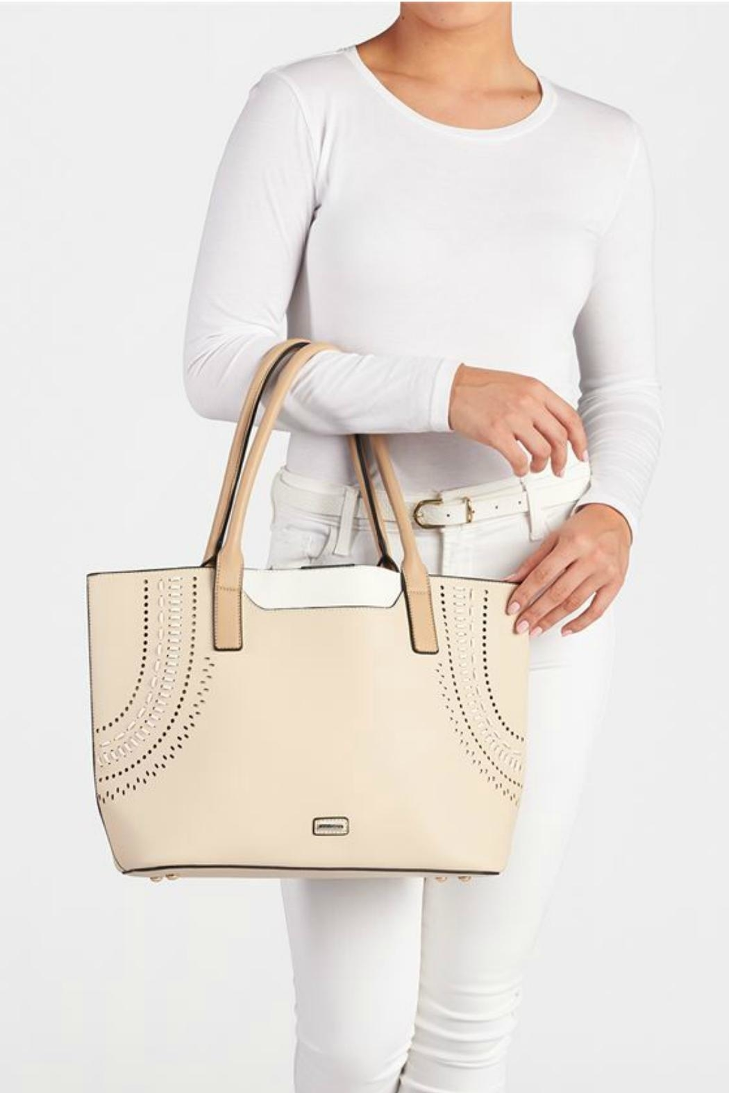 Coco + Carmen Raleigh Spctator Tote - Side Cropped Image