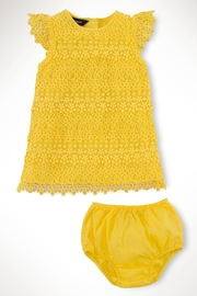Ralph Lauren Baby Lemondrop Tiered-Lace Dress - Side cropped