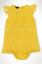 Ralph Lauren Baby Lemondrop Tiered-Lace Dress - Product Mini Image