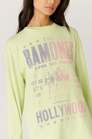 Daydreamer  Ramones Hollywood Oversized Long Sleeve Tee - Front cropped