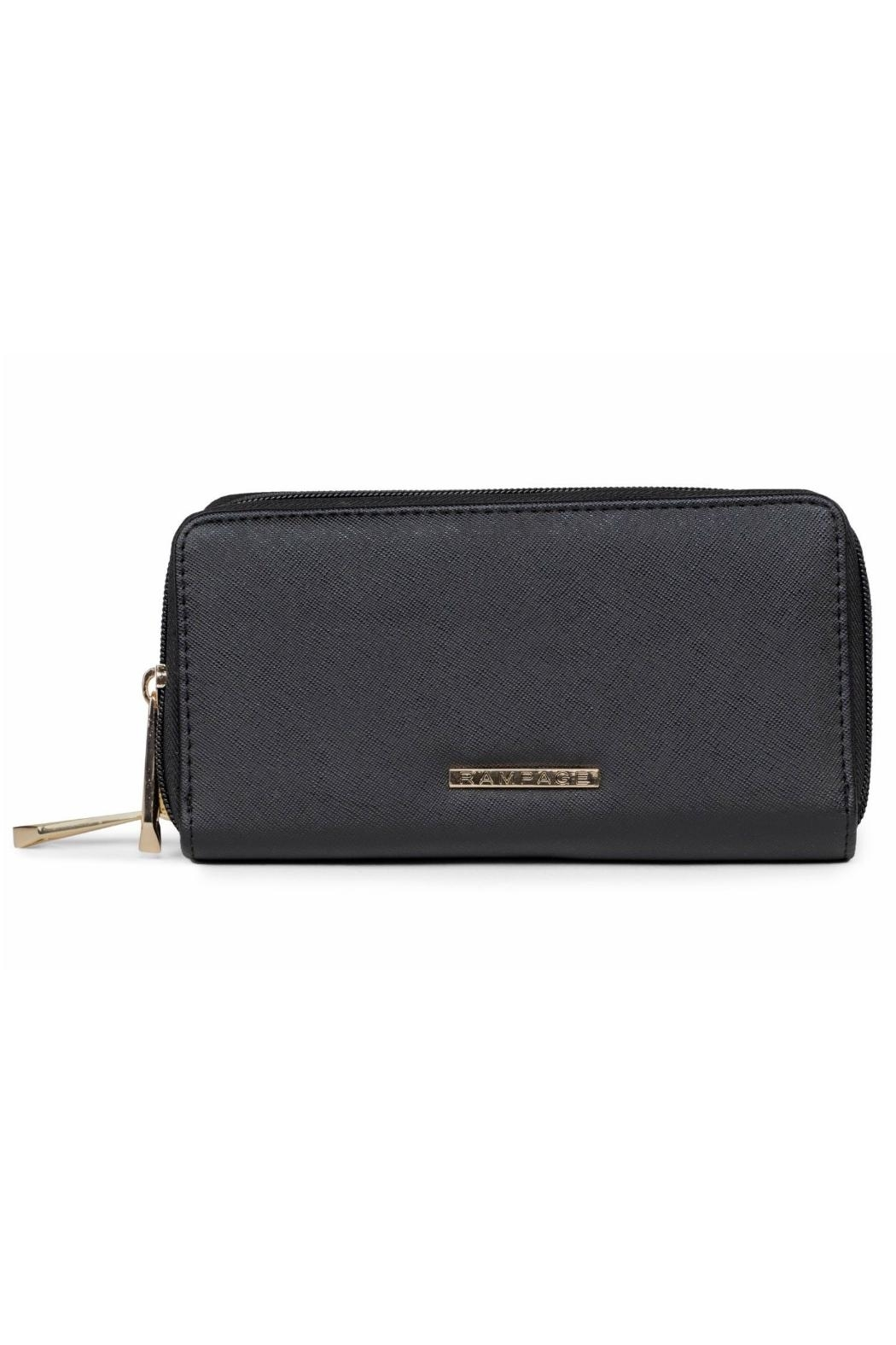 Rampage Double Zip Wallet - Front Cropped Image