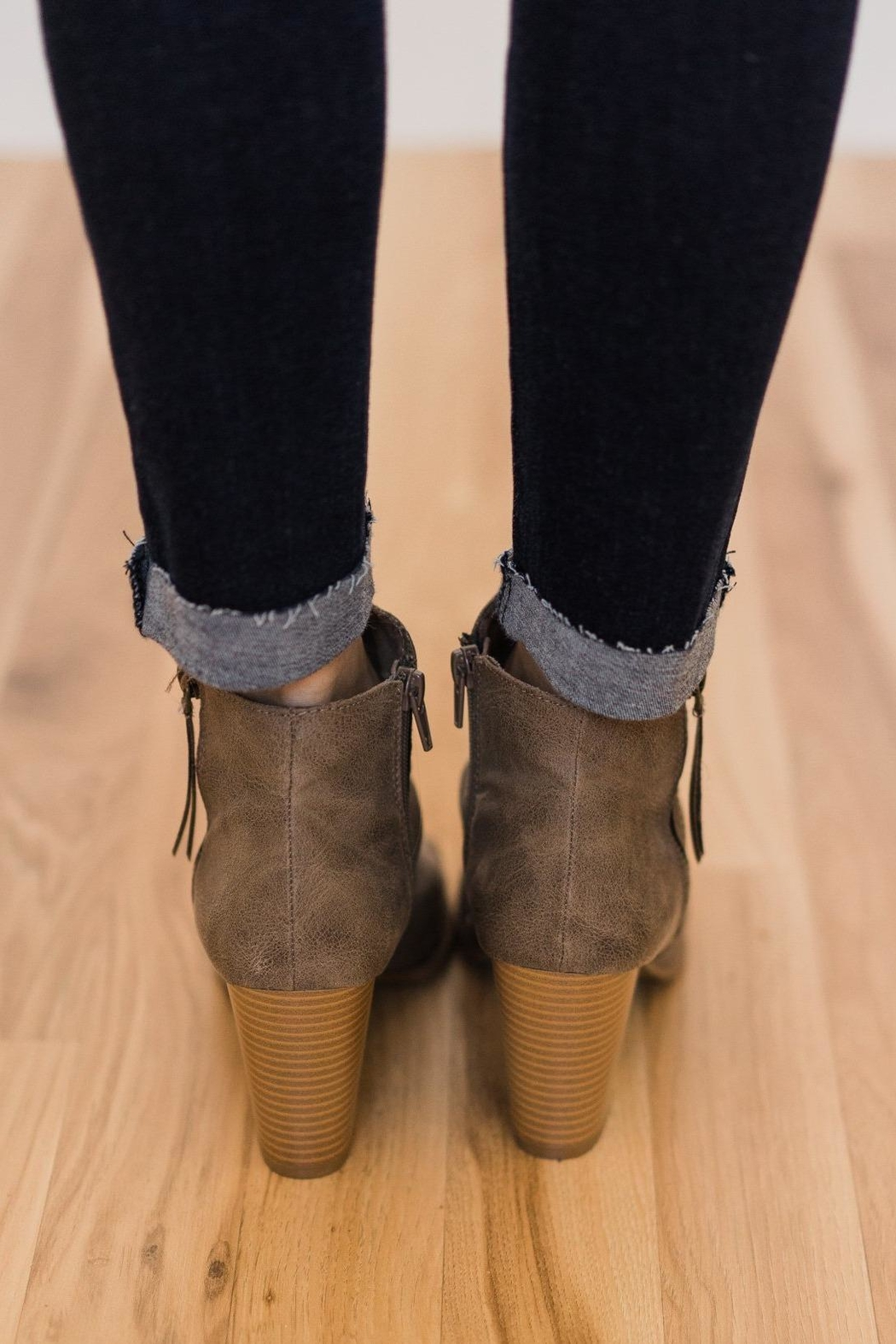 Rampage Peep Toe Bootie - Front Full Image