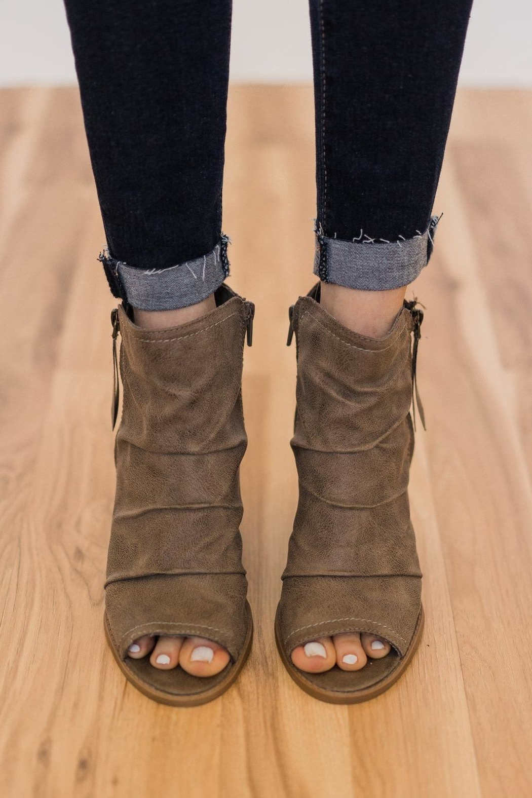 Rampage Peep Toe Bootie - Side Cropped Image