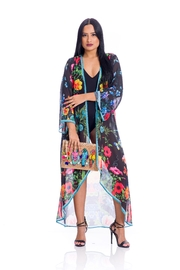 ranee?s Black Floral Duster - Front cropped