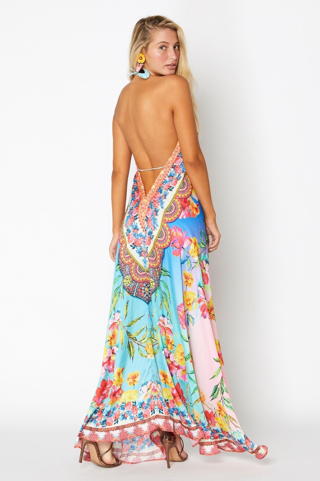 ranee?s Dreamy Floral Halter Dress - Front Full Image