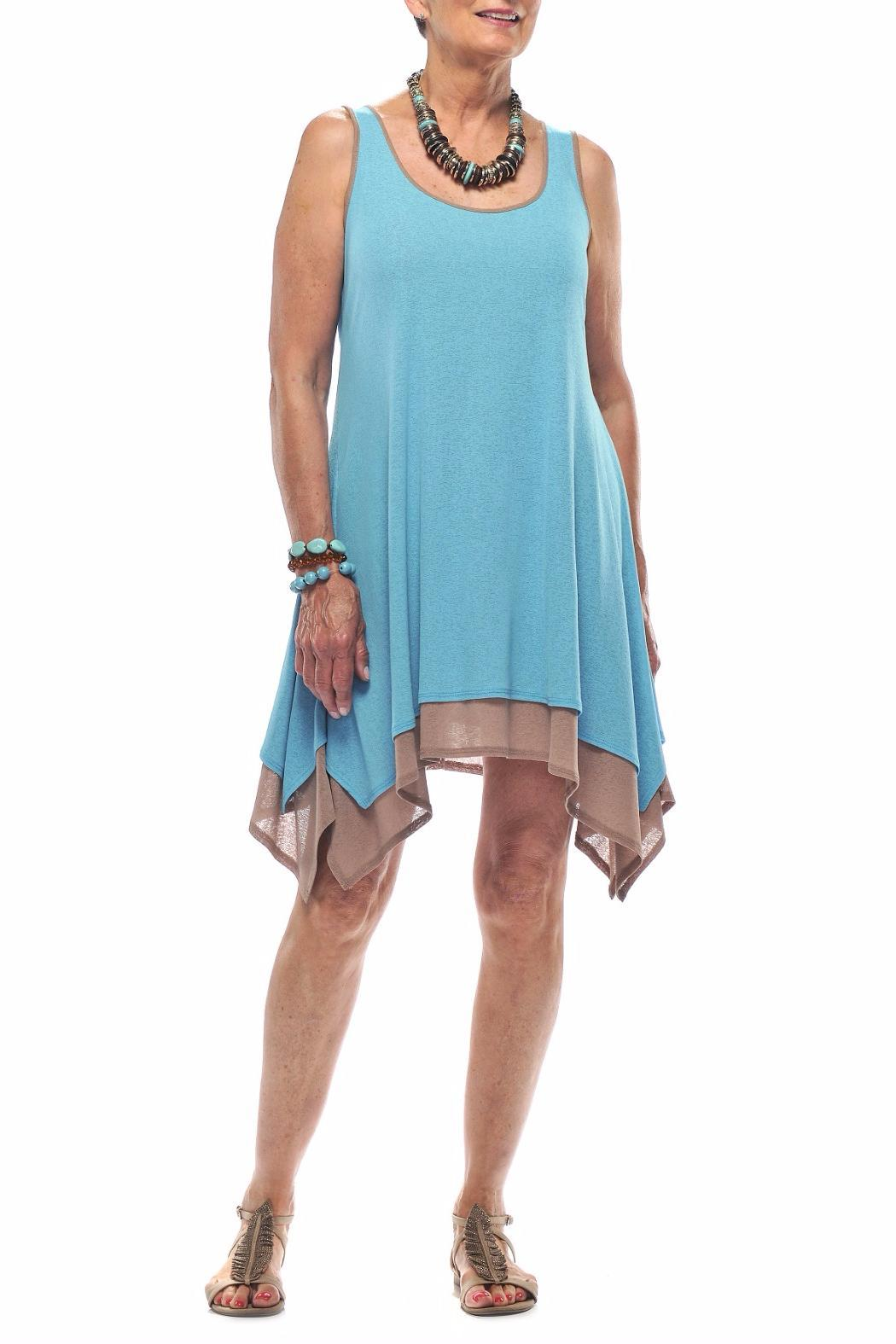 Rapz Layered Beach Dress - Front Full Image