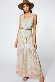 Young Fabulous & Broke RAQUEL DRESS IN WATER AUSTIN WASH - Product Mini Image