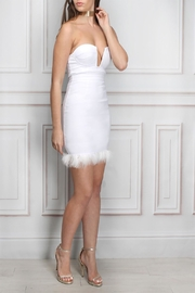 Rare London Faux Fur Mini Dress - Product Mini Image