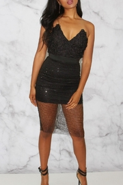 Rare London Textured Bustier Dress - Front cropped