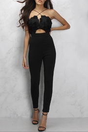 Rare London Textured Cutout Jumpsuit - Front cropped