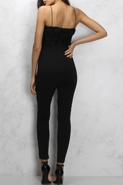 Rare London Textured Cutout Jumpsuit - Front full body