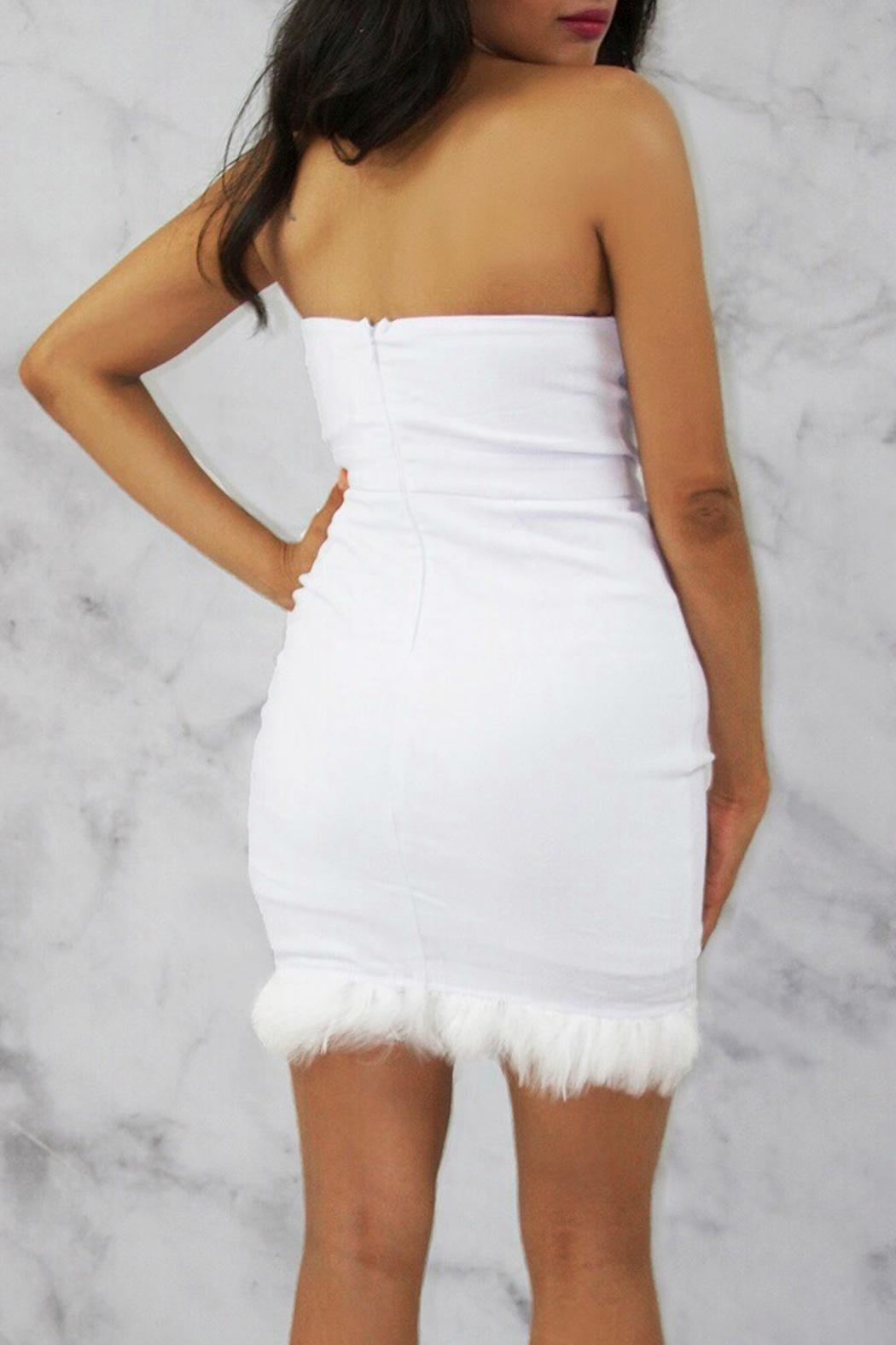 Rare London White Bustier Dress - Front Full Image