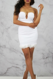Rare London White Bustier Dress - Front cropped