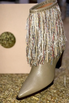 ras Fringe Taupe Boots - Product List Image
