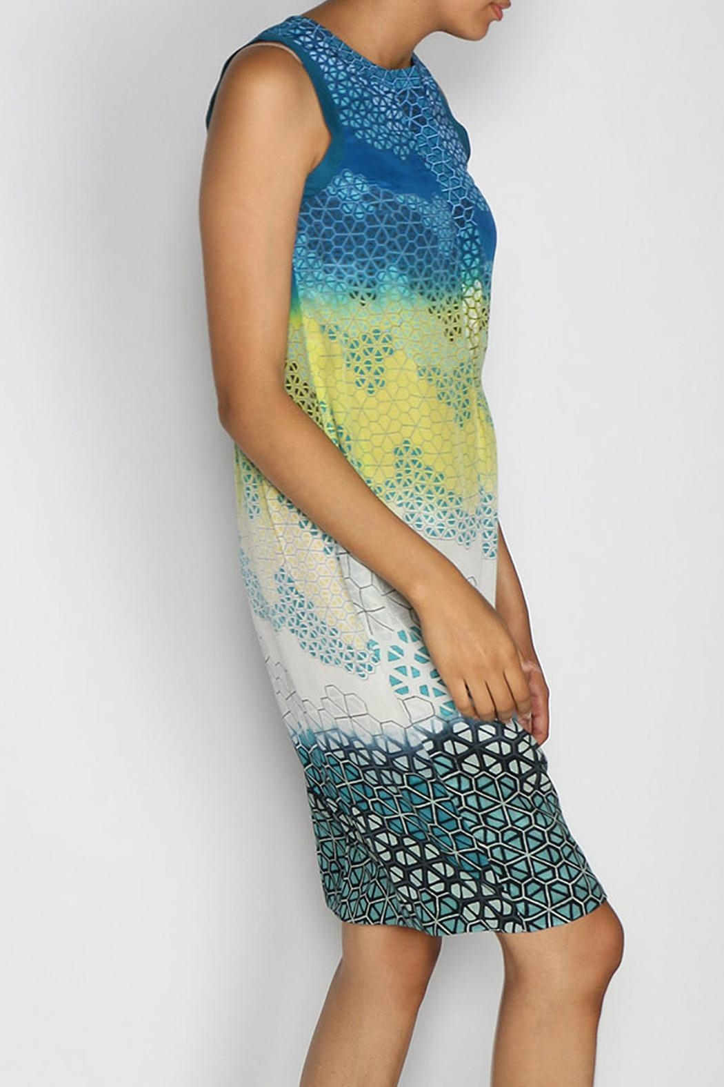Rasa Blue Jemma Dress - Side Cropped Image