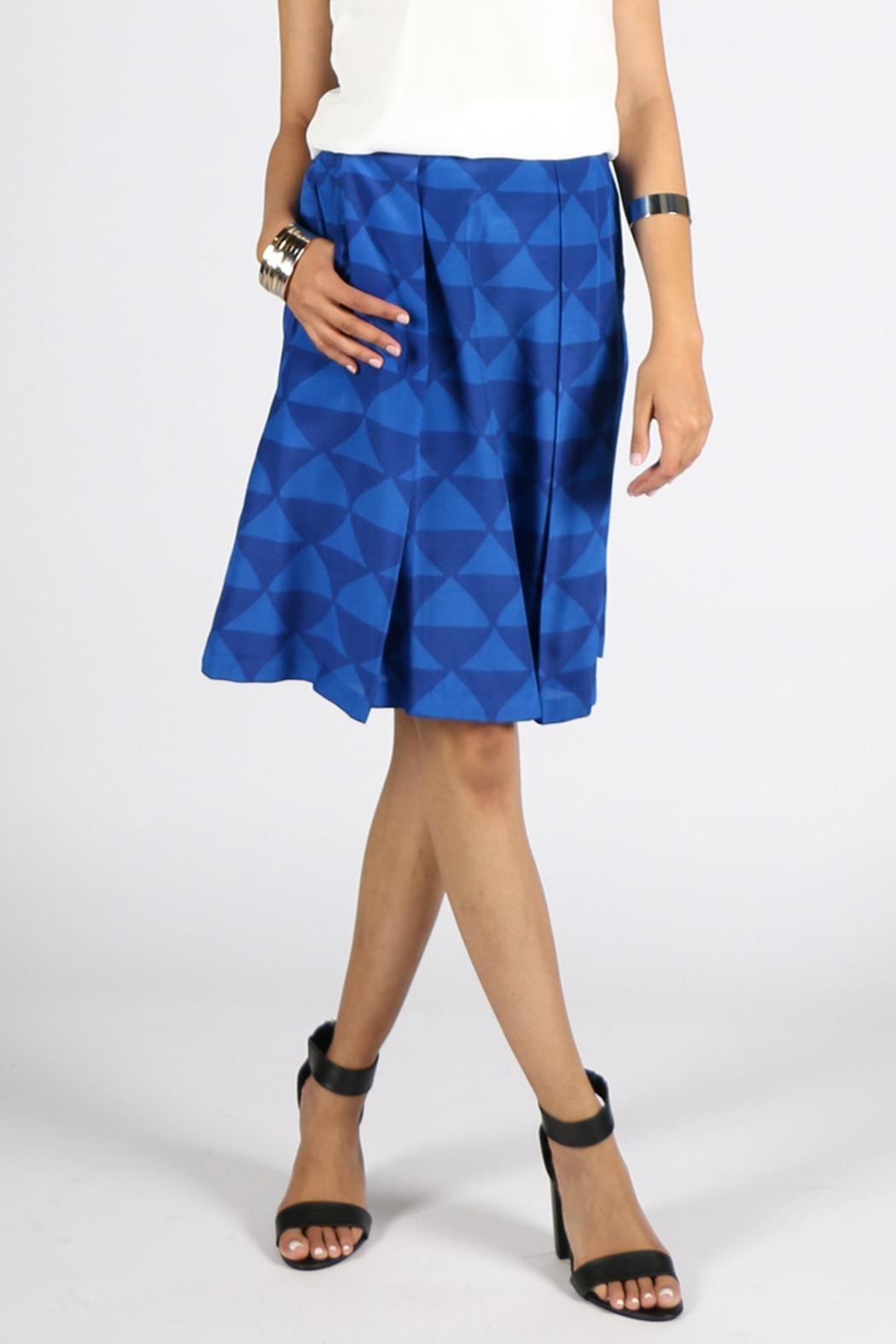 Rasa Cobalt Nyle Skirt - Front Cropped Image