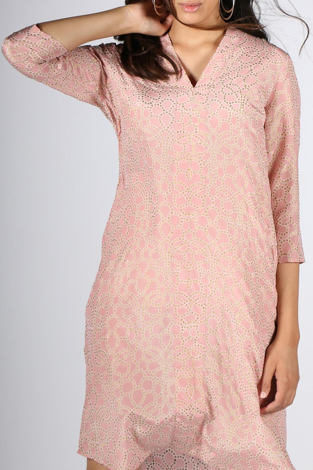 Rasa Leela Rose Dress - Side Cropped Image