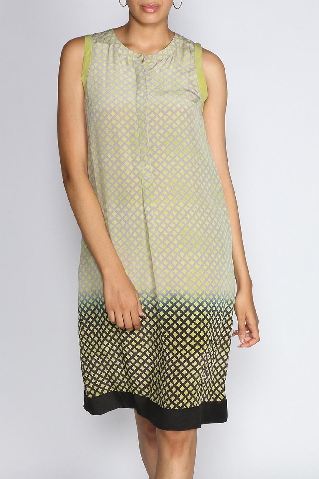 Rasa Lime Jemma Dress - Front Cropped Image