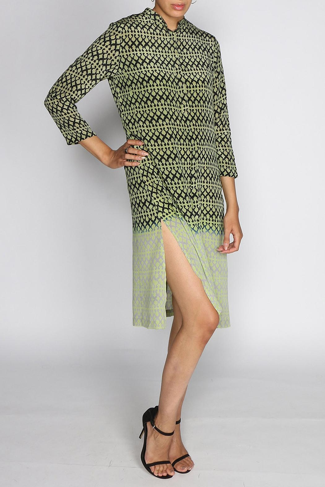 Rasa Lime Rajput Dress - Front Cropped Image