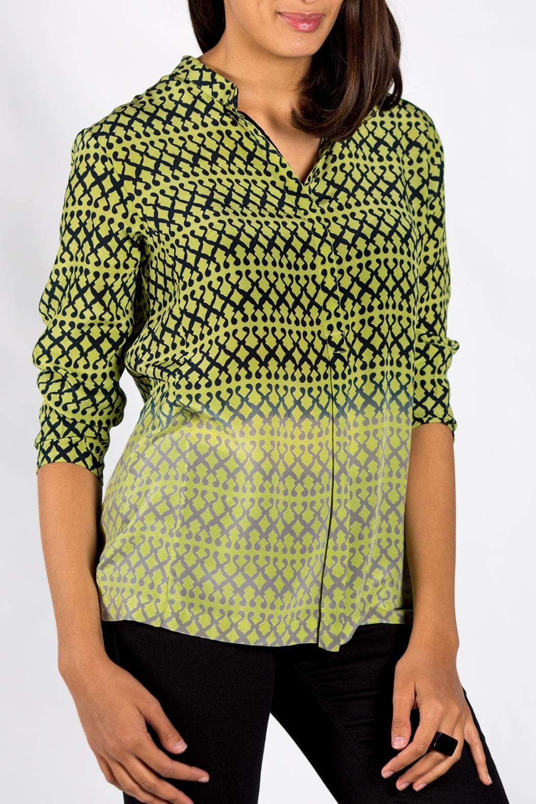 Rasa Lime Rajput Shirt - Front Cropped Image