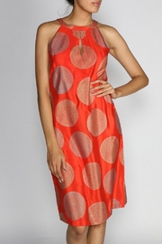 Rasa Orange Halter Dress - Product Mini Image
