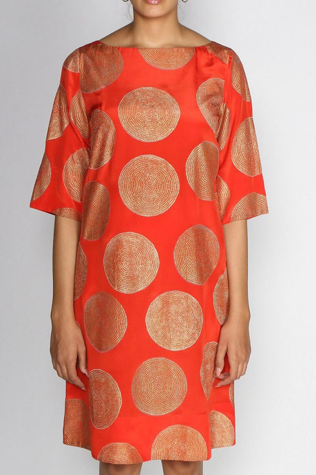 Rasa Orange Misha Dress - Front Full Image