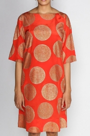 Rasa Orange Misha Dress - Front full body