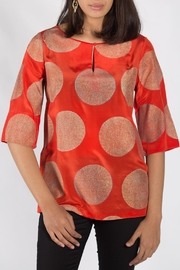 Rasa Orange Split Misha Top - Side cropped