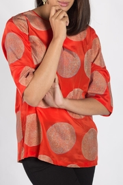 Rasa Orange Split Misha Top - Product Mini Image