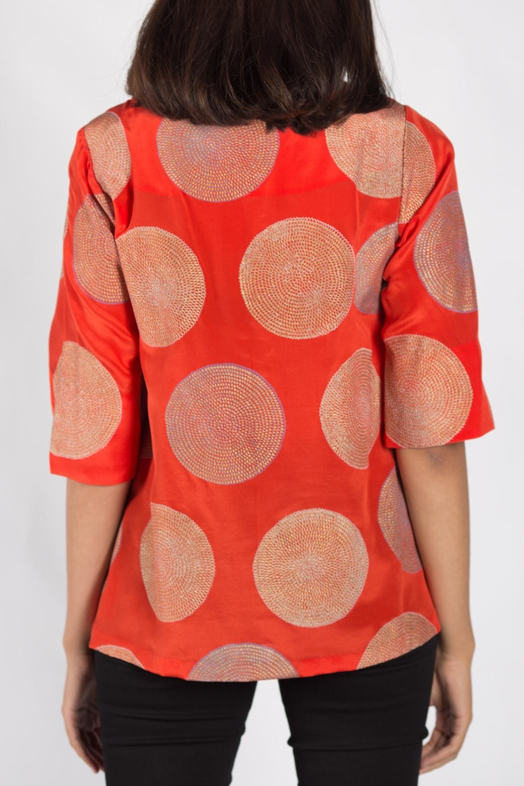 Rasa Orange Split Misha Top - Front Full Image