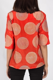 Rasa Orange Split Misha Top - Front full body