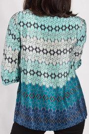 Rasa Teal Split Misha Top - Side cropped