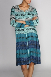 Rasa Teal Star Tunic Dress - Front cropped