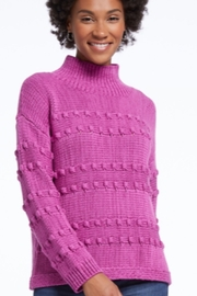 Nic+Zoe Raspberry cable knit turtleneck sweater - Product Mini Image
