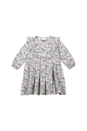 Paper Wings Raspberry Dreams Organic Pleated Dress - Front cropped