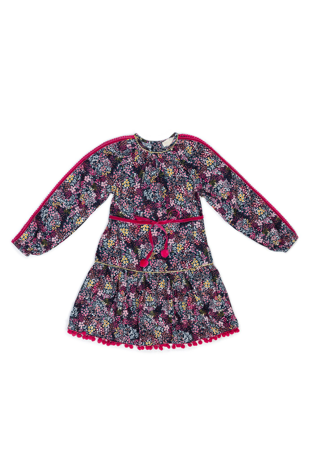 Egg  by Susan Lazar Raspberry Floral Cecily Dress - Main Image